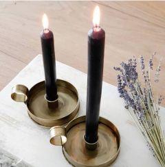 Candle holder rond brass medium IM65AB