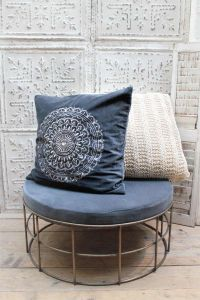 Cushion cover blue D013