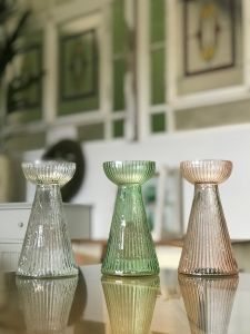 Hyacinth vase clear L WEL027